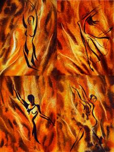 Dancing Fire Group Abstract