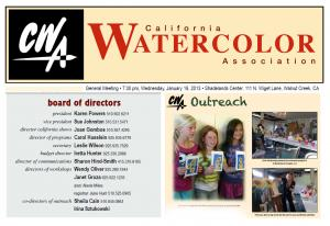 California Watercolor Association News