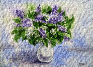 Lilac Bouquet - Impressionism Style
